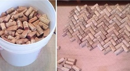 Loving Boyfriend Creates A Gorgeous Coffee Table Out Of 300+ Wine Corks For Girlfriend