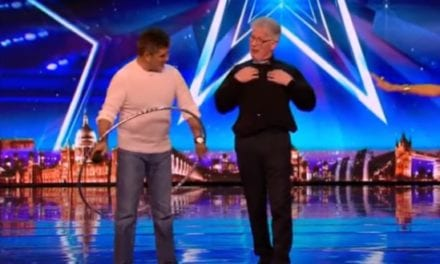 Old Man Teaches Simon Cowell How To Hoop And Turns His 'NO' To A 'YES'