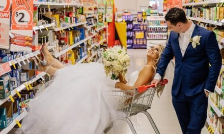 Newlyweds Get Their Wedding Photoshoot At The Superstore They Met In