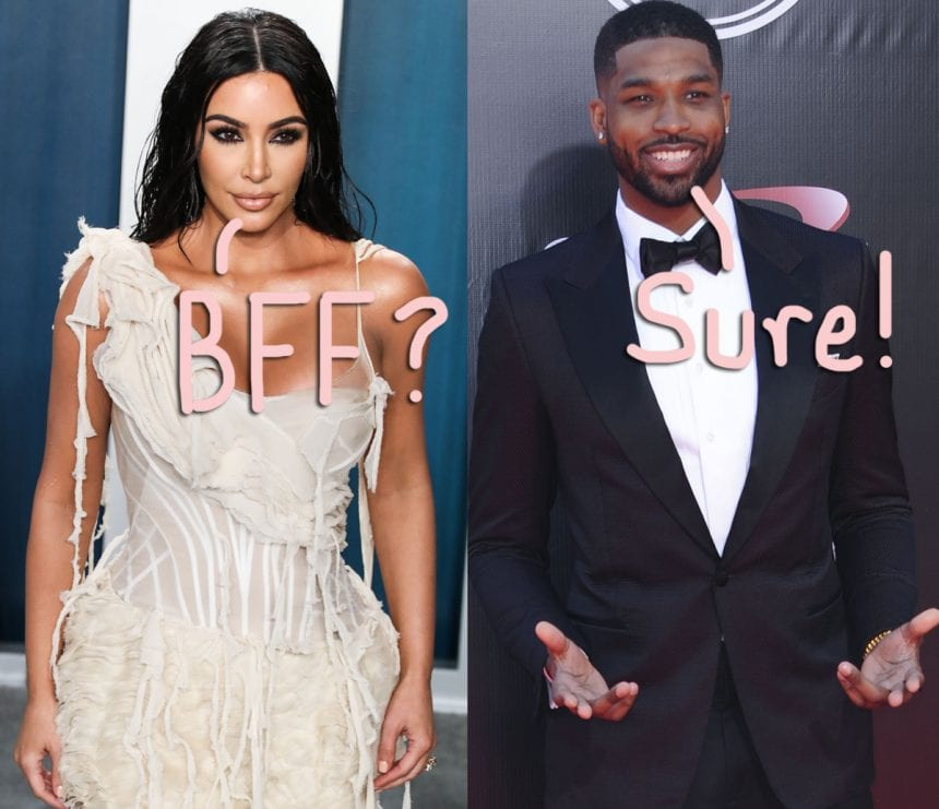 Kim Kardashian states she loves Tristan Thompson like a brother after they fused!