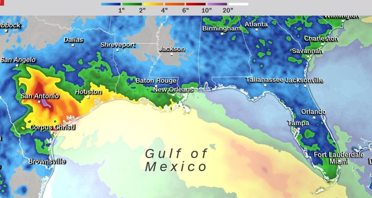 The Tropical System Will Bring Weighty Rain to the Gulf Coastline This Weekend