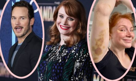 Bryce Dallas Howard Shows Off AWFUL Stuntwork Bruises As Jurassic World Returns To Manufacturing!