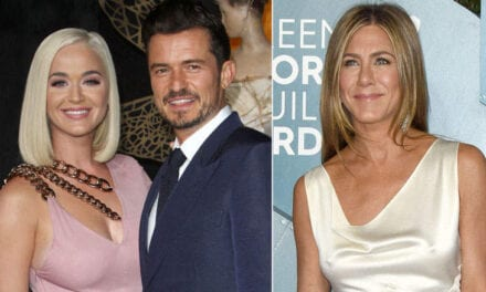 And Totally True News, Katy Perry And Orlando Blossom Want Jennifer Aniston To become Their Child's Godmother