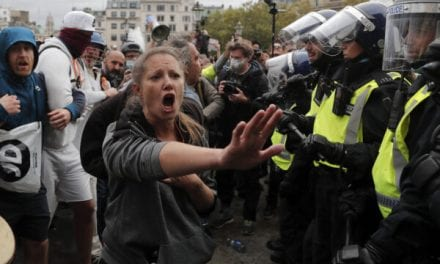 Greater london Police, Protesters Clash with Covid-19 Demonstration