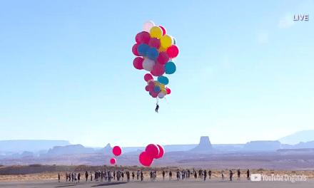 Jesse Blaine Successfully Completed Their Balloon Stunt