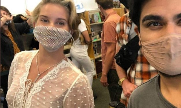 Lana Del Rey Wore The Mesh Mask To Meet Followers At A Book Signing