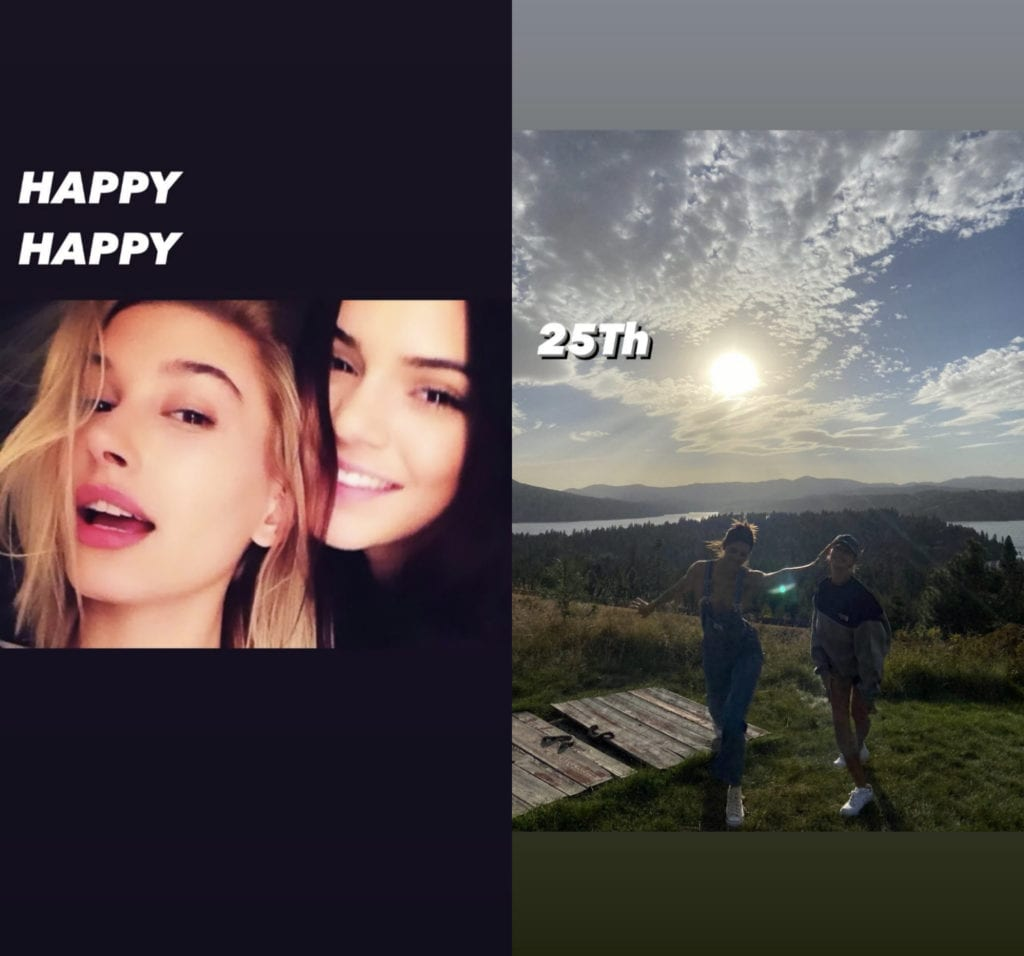 hailey bieber wishes kendall jenner happy birthday